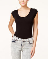 Material Girl Juniors' Cap-Sleeve Bodysuit, Only at Macy's
