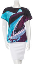 Mary Katrantzou Printed Short Sleeve Top