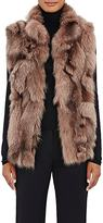 Barneys New York Women's Fox Fur Vest-PINK