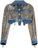 Balmain Sequin-Embellished Denim Jacket