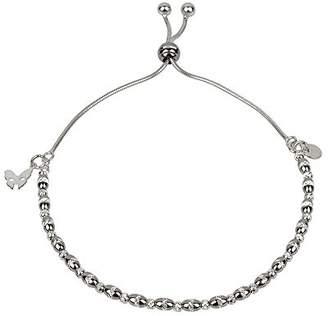 Vamp London Vamp Chic Dainty Black Sterling Silver Bracelet VCB028-OX