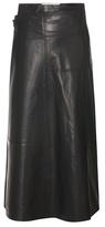 Victoria Beckham A-line Leather Wrap Skirt