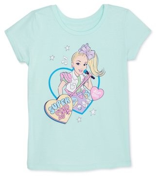 Jojo Siwa Girls Foil & Glitter Graphic T-Shirt, Sizes 4-12