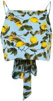 Glamorous **Lemon Print Tie Back Camisole Top