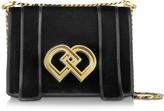 DSQUARED2 DD Medium Black Velvet Shoulder Bag