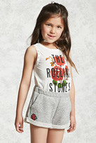 Forever 21 FOREVER 21+ Girls Floral Patch Shorts (Kids)