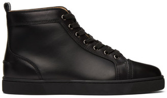 Christian Louboutin Black Louis High-Top Sneakers