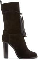 Lanvin Black Suede Fringed Boots