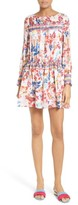 Tanya Taylor Women's Hailey Floral Burst Print Silk Dress