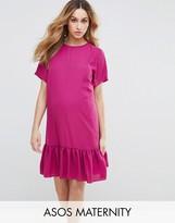 Asos T-Shirt Dress With Ruffle Hem