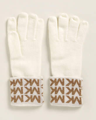 Michael Kors Linear Logo Cuff Gloves