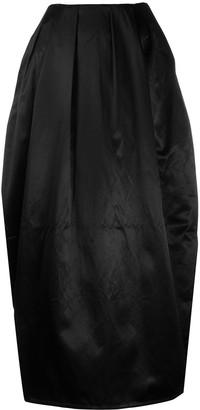 Marine Serre Tapered Pleated Maxi-Skirt