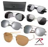 Rothco 10804 G.I. Type Pilot's Aviator Sunglasses (Chrome/Smoke)