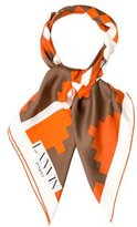 Lanvin Abstract Print Silk Scarf