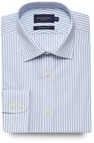 Osborne Big And Tall Blue Striped Print Tailored Fit Shirt