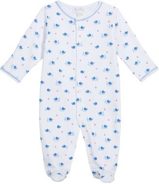 Kissy Kissy Boy's Beaching Whales Footie Pajamas, Size Newborn-9M