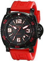 "Swiss Legend Men's 11503-BB-01-RDAS ""Typhoon"" Stainless Steel Watch with Red Silicone Band"