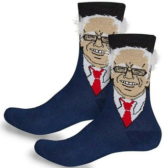 IDEA Bernie Sanders Socks With Hair - Funny Socks Perfect Gift One Size Socks For Men and Women By Creatov