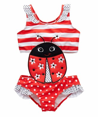 HEETEY Girls Swimming Costume Baby Kids Girls Summer Leopard Watermelon Backless One Piece Swimsuit Printed Bikini One Piece Swimwear Swimsuit