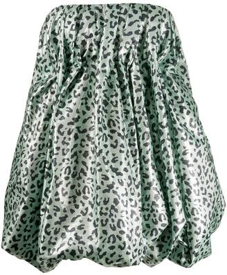 16Arlington Leopard-Print Puffball Dress