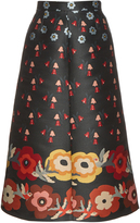 RED Valentino Floral-jacquard A-line skirt