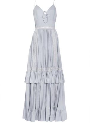True Decadence Pale Grey Pleated Maxi Dress