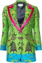 Gucci Landscape print velvet jacket