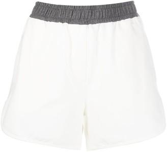 Brunello Cucinelli Two-Tone Short Shorts