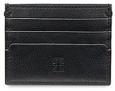 Ben Sherman Gingham-Embossed Leather Card Case