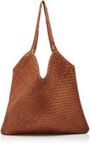Buffalo David Bitton Dragon Diffusion V Woven Leather Tote Bag