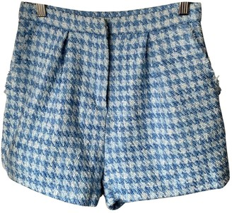 Non Signé / Unsigned Non Signe / Unsigned Blue Cloth Shorts for Women