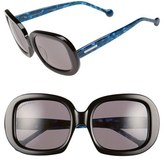 Jonathan Adler Women's 'Capri' 55Mm Square Sunglasses - Black