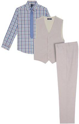 Izod Boys 8-20 Oxford Shirt, Vest & Pants Set