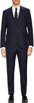 Lubiam Men's Wool Windowpane Notch Lapel Suit
