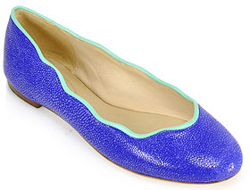 Juicy Couture Jailyn - Flat in Bright Blue Stingray Leather