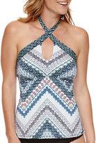 Liz Claiborne Keyhole Tankini Swimsuit Top
