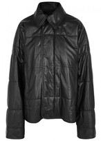 Haider Ackermann Quilted Oversized Leather Jacket
