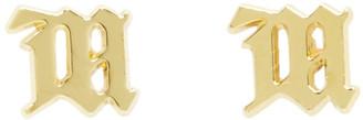 Misbhv Gold M Stud Earrings