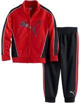Puma Toddler Boy Logo Zip-Front Jacket & Pants Set
