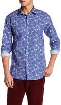 Bugatchi Printed Shape Fit Woven Shirt