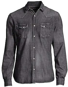 The Kooples Men's Washed Denim Shirt
