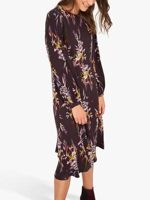 White Stuff Himari Floral Print Shift Dress, Purple/Multi