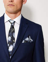 M&S CollectionMarks and Spencer Silk Floral Print Pocket Square