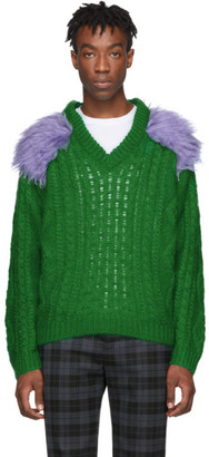 Prada Green Fisherman Sweater