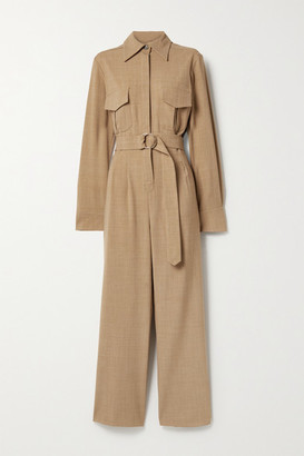 ANNA QUAN Coda Belted Woven Jumpsuit - Camel