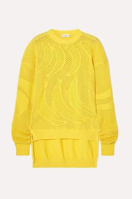 Sonia Rykiel Open-knit Cotton Sweater - Yellow
