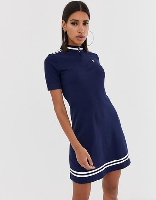 G Star G-Star Cergy organic cotton fitted dress with high neck & zip