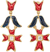 Stazia Loren Women's Geometric Triple-Drop Earrings