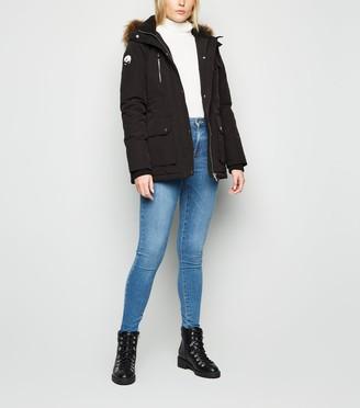 New Look Tall Faux Fur Trim Parka Jacket