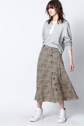 Zadig & Voltaire June Leo Print Skirt